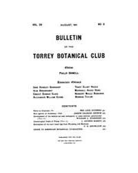 Bulletin of the Torrey Botanical Club : ... Volume Vol. 38 by