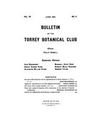 Bulletin of the Torrey Botanical Club : ... Volume Vol. 39 by