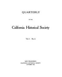 California Historical Society Quarterly ... Volume Vol. 1 by