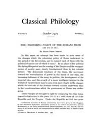 Classical Philology : 1915 ; Oct. No. 4 ... Volume Vol. 10 by Asmis, Elizabeth