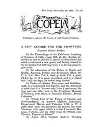 Copeia : 1914 ; Nov. 20 No. 12 Nos. 2 13 by Schaefer, Scott, A.