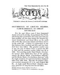 Copeia : 1916 ; Sep. 24 No. 35 Nos. 26 3... by Schaefer, Scott, A.