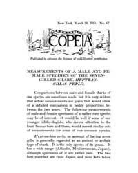 Copeia : 1919 ; Mar. 19 No. 67 Nos. 65 7... by Schaefer, Scott, A.