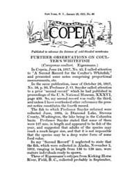 Copeia : 1921 ; Jan. 20 No. 90 Nos. 90 1... by Schaefer, Scott, A.