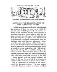 Copeia : 1922 ; Apr. 15 No. 105 Nos. 102... by Schaefer, Scott, A.