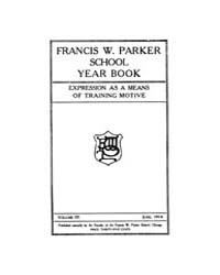 Francis W. Parker School Year Book : 191... Volume Vol.3 by Kaplan,andy