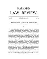 Harvard Law Review : 1887 Oct 15 No. 3, ... Volume Vol.1 by