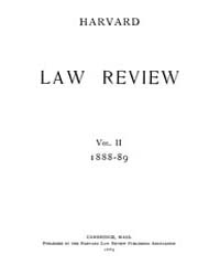 Harvard Law Review : 1888 Apr 15 No. 1, ... Volume Vol.2 by