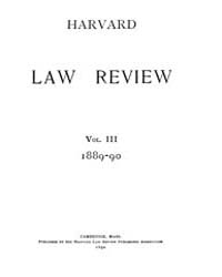 Harvard Law Review : 1889 Apr 15 No. 1, ... Volume Vol.3 by