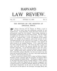Harvard Law Review : 1889 Oct 15 No. 3, ... Volume Vol.3 by