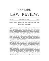 Harvard Law Review : 1891 Jan 15 No. 6, ... Volume Vol.4 by