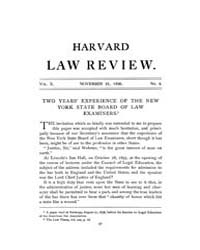 Harvard Law Review : 1896 Nov 25 No. 4, ... Volume Vol.10 by