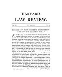 Harvard Law Review : 1897 May 25 No. 2, ... Volume Vol.11 by
