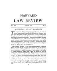 Harvard Law Review : 1901 Mar No. 7, Vol... Volume Vol.26 by