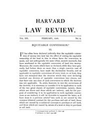 Harvard Law Review : 1906 Feb No. 4, Vol... Volume Vol.30 by