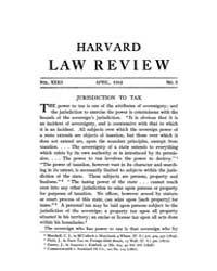 Harvard Law Review : 1919 Apr No. 6, Vol... Volume Vol.21 by
