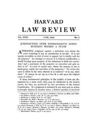Harvard Law Review : 1919 Jun No. 8, Vol... Volume Vol.23 by