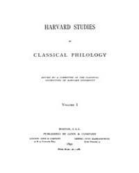 Harvard Studies in Classical Philology :... Volume Vol.1 by