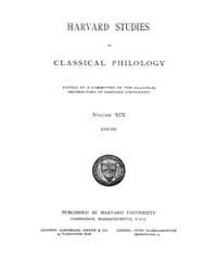 Harvard Studies in Classical Philology :... Volume Vol.19 by