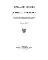 Harvard Studies in Classical Philology :... Volume Vol.27 by