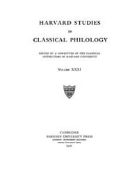 Harvard Studies in Classical Philology :... Volume Vol.31 by