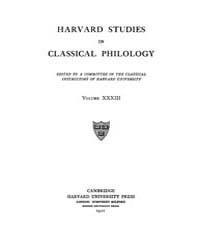 Harvard Studies in Classical Philology :... Volume Vol.33 by