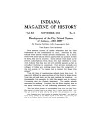 Indiana Magazine of History : 1916 Septe... Volume Vol.12 by