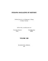 Indiana Magazine of History : 1917 March... Volume Vol.13 by