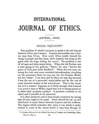International Journal of Ethics : 1891 A... Volume Vol.1 by Richardson,henry,s.
