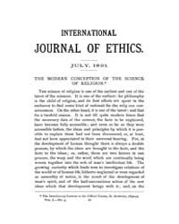 International Journal of Ethics : 1891 J... Volume Vol.1 by Richardson,henry,s.