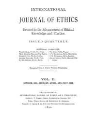 International Journal of Ethics : 1891 O... Volume Vol.2 by Richardson,henry,s.