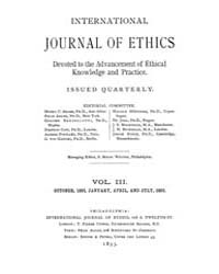 International Journal of Ethics : 1892 O... Volume Vol.3 by Richardson,henry,s.