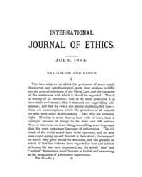 International Journal of Ethics : 1894 J... Volume Vol.4 by Richardson,henry,s.