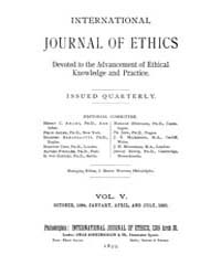 International Journal of Ethics : 1894 O... Volume Vol.5 by Richardson,henry,s.