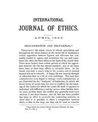 International Journal of Ethics : 1895 A... Volume Vol.5 by Richardson,henry,s.