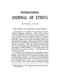 International Journal of Ethics : 1896 A... Volume Vol.6 by Richardson,henry,s.