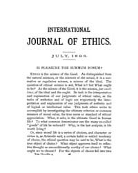 International Journal of Ethics : 1896 J... Volume Vol.6 by Richardson,henry,s.