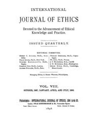 International Journal of Ethics : 1897 O... Volume Vol.8 by Richardson,henry,s.