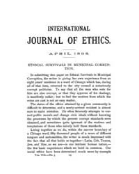 International Journal of Ethics : 1898 A... Volume Vol.8 by Richardson,henry,s.