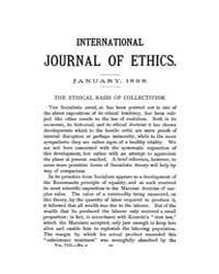 International Journal of Ethics : 1898 J... Volume Vol.8 by Richardson,henry,s.