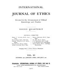 International Journal of Ethics : 1900 O... Volume Vol.11 by Richardson,henry,s.