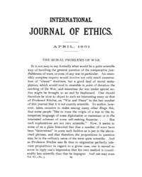International Journal of Ethics : 1901 A... Volume Vol.11 by Richardson,henry,s.