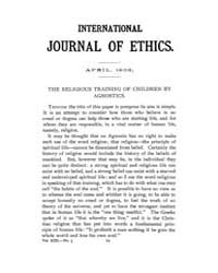 International Journal of Ethics : 1903 A... Volume Vol.13 by Richardson,henry,s.