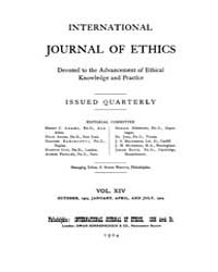 International Journal of Ethics : 1903 O... Volume Vol.14 by Richardson,henry,s.