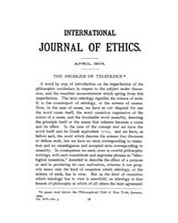 International Journal of Ethics : 1905 A... Volume Vol.15 by Richardson,henry,s.