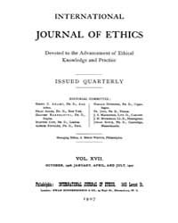 International Journal of Ethics : 1906 O... Volume Vol.17 by Richardson,henry,s.