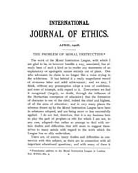 International Journal of Ethics : 1908 A... Volume Vol.18 by Richardson,henry,s.