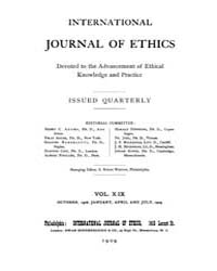 International Journal of Ethics : 1908 O... Volume Vol.19 by Richardson,henry,s.
