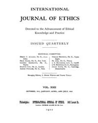 International Journal of Ethics : 1911 O... Volume Vol.22 by Richardson,henry,s.