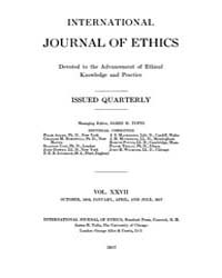 International Journal of Ethics : 1916 O... Volume Vol.27 by Richardson,henry,s.